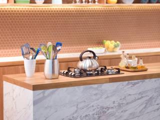 Cozinhas para Exporevestir 2014 e 2015 Espaços comerciais minimalistas por Estudio Piloti Arquitetura Minimalista