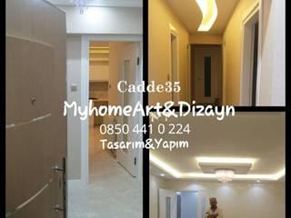 Bornova C Proje uygulama Modern Koridor, Hol & Merdivenler Cadde35 Myhome Yapı Dizayn Mimarlık Modern