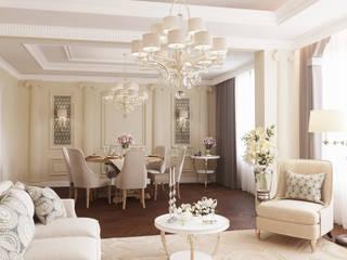 Проект частного дома в г.Бор Гостиная в классическом стиле от ASAstudio Классический