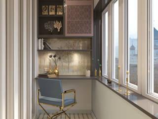 Квартира 120 кв.м: Спальни в . Автор – ASAstudio