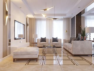 Проект частного дома в г Выкса: Гостиная в . Автор – ASAstudio