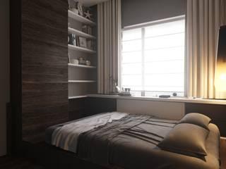 Квартира  90 кв.м : Спальни в . Автор – ASAstudio