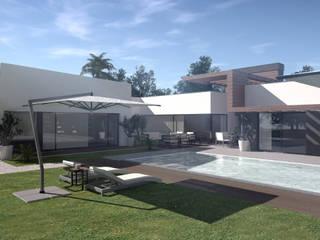 Alteração e Ampliação de Moradia Existente, Moncarapacho, Olhão: Casas de campo  por VM - Arquitetura