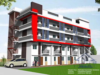 Proposed 3 storey Commercial and Residential with deck by j.g taño builders