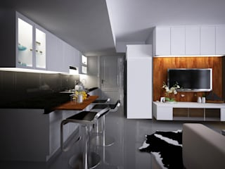 Apartment Gading Greenhill:  Dapur by Elora Desain