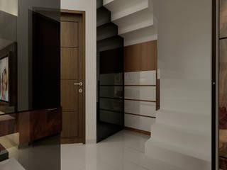 Modern corridor, hallway & stairs by Elora Desain Modern