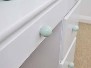 "Ceramics handles - Round 3,5 cm / 1,58"" - colour pastel mint glossy glaze Viola Ceramics Studio ArteAltri oggetti d'arte Ceramica Verde"