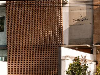 reforma escritorio fachada elemento vazado ceramica Estudio Piloti Arquitetura Espaços comerciais industriais