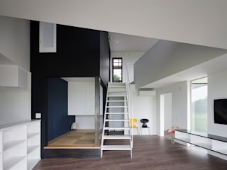 Salas multimedia de estilo minimalista de 石川淳建築設計事務所 Minimalista