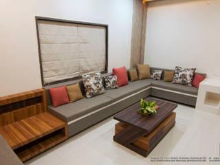 Interior of Residence for Mr. Chandrashekhar R Minimalist living room by ABHA Design Studio Minimalist