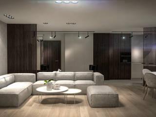 FLAT 5: styl , w kategorii Salon zaprojektowany przez Luxon Modern Design Łukasz Szadujko