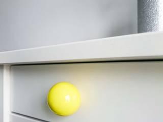 """Ceramics handles - Round 3,5 cm / 1,58"""" - colour yellow glossy glaze Viola Ceramics Studio ArteAltri oggetti d'arte Ceramica Giallo"""