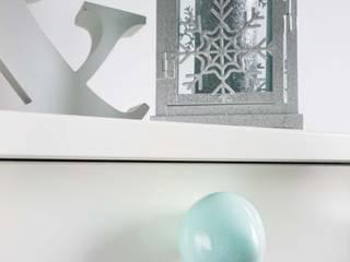 Ceramics handles – Little top – colour pastel mint glossy glaze Viola Ceramics Studio ArteAltri oggetti d'arte Ceramica Blu