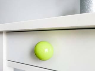 "Ceramics handles - Round 3,5 cm / 1,58"" - colour lime green glossy glaze Viola Ceramics Studio ArteAltri oggetti d'arte Ceramica Verde"