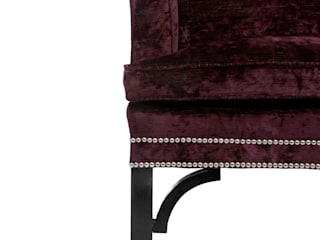 Chippendale Scroll Arm Settee par Standrin Éclectique