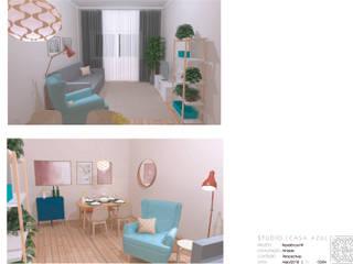 Sala da Família: Salas de estar modernas por Studio Casa Azul