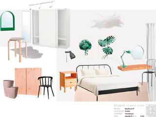 Quarto com Closet: Quartos escandinavos por Studio Casa Azul