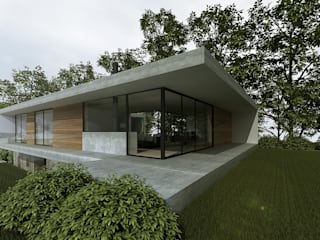 Casa sobre Ruína: Casas unifamilares  por Eurico Soares Teixeira Arquiteto - Unipessoal, Lda,Moderno