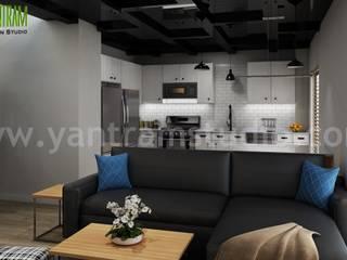 Modern Living Room Designs Ideas   3d Interior Design by Yantram 3d interior designers - Doha, Qatar Modern Oturma Odası Yantram Architectural Design Studio Modern