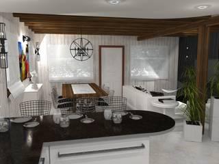 Diseño y decoracion duplex Comedores industriales de Estudio de Arquitectura MEM Industrial