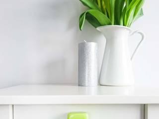 Ceramics handles - Cube - colour lime green glossy glaze Viola Ceramics Studio CasaAccessori & Decorazioni Ceramica Verde