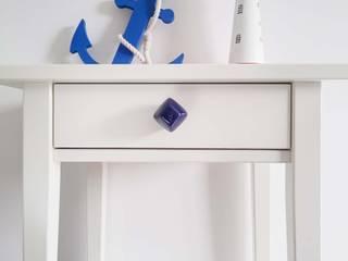 Ceramics handles - Diamond - colour cobalt glossy glaze Viola Ceramics Studio CasaAccessori & Decorazioni Ceramica Blu