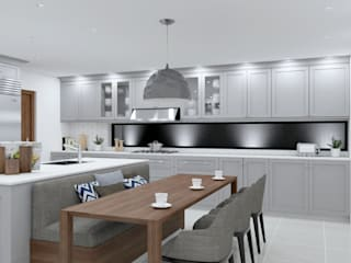 Homify, Dapur Modern di South Africa Rossi Design - Architetto e Designer Dapur built in Kayu Grey