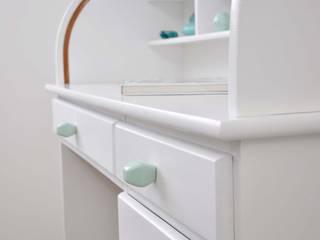 Ceramics handles - Diamond - colour pastel mint glossy glaze Viola Ceramics Studio CasaAccessori & Decorazioni Ceramica Blu