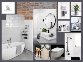 Ontwerp industriële badkamer Industriële badkamers van Studio Room by Room Industrieel