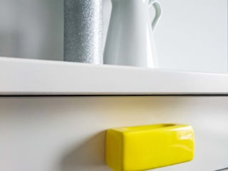 Ceramics handles – Rectangle – colour yellow glossy glaze Viola Ceramics Studio CasaAccessori & Decorazioni Ceramica Giallo