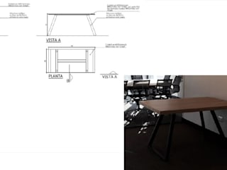 Mesa de trabajo de Arq Darwin Machiste Moderno