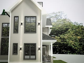 MJ Modern farmhouse Citra Garden: Rumah oleh Lighthouse Architect Indonesia, Country
