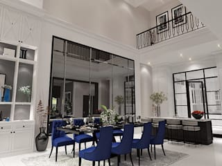 Ruang makan:  Ruang Makan by Lighthouse Architect Indonesia
