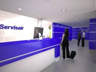 Lounge Aeroporto: Escritórios e Espaços de trabalho  por PRX Gabinete de Arquitectura, Lda