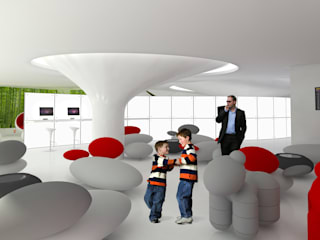 Louge Aeroporto:   por PRX Gabinete de Arquitectura, Lda