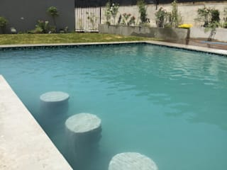 Garden Pool by Deck and Garden