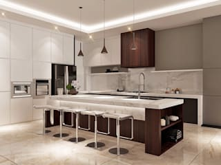 Cuisine moderne par Lighthouse Architect Indonesia Moderne