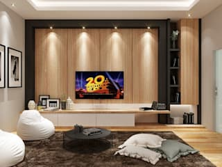 Modern Media Room by Lighthouse Architect Indonesia Modern