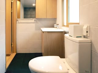 Asian style bathroom by 주식회사 착한공간연구소 Asian