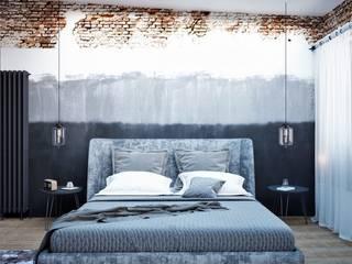 Спальня в стиле Лофт Спальня в стиле лофт от STONE design Лофт
