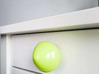 Ceramics handles – Little top – colour green lime glossy glaze Viola Ceramics Studio CasaAccessori & Decorazioni Ceramica Verde