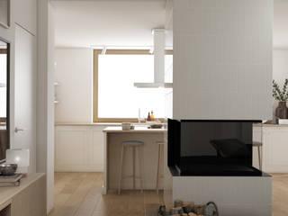 Milanówek: styl , w kategorii Salon zaprojektowany przez Marta Wypych | pracownia projektowa,