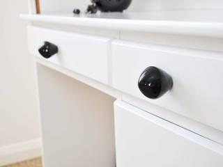 Ceramics handles – Little top – colour black glossy glaze Viola Ceramics Studio CasaArticoli Casalinghi Ceramica Nero