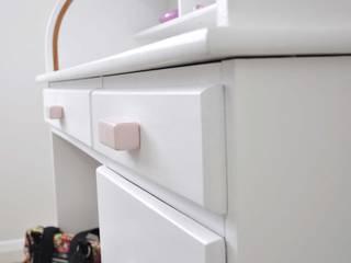 Ceramics handles – Rectangle – colour pastel pink glossy glaze Viola Ceramics Studio CasaArticoli Casalinghi Ceramica Rosa