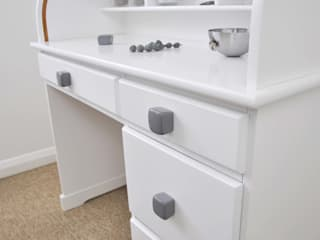 Ceramics handles - Cube - colour dark grey glossy glaze Viola Ceramics Studio CasaAccessori & Decorazioni Ceramica Grigio