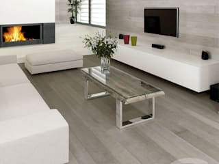 Sugar Paper oak wood floor Livings modernos: Ideas, imágenes y decoración de Cadorin Group Srl - Top Quality Wood Flooring Moderno