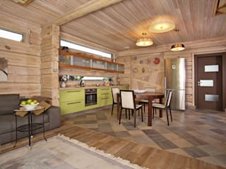 Country style kitchen by архитектурная мастерская МАРТ Country