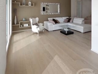 Rock Oak wood floor Salones mediterráneos de Cadorin Group Srl - Top Quality Wood Flooring Mediterráneo