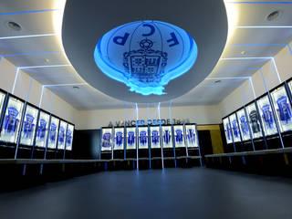 Dressing room F.C.Porto Football Team Ginásios modernos por bkx arquitectos Moderno