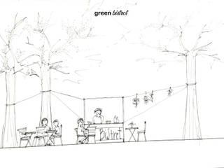 Greenbistrot Ramina Studio Gastronomia in stile mediterraneo Ceramica Bianco